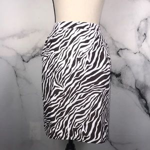 Attention brown tiger print pencil skirt size 12